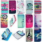 Folio Book Flip PU Leather Wallet Protector Case Cover for Various Mobile