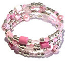 BUY 2 GET 1 FREE Memory Wire Beaded Bracelet Jewellery Making Starter Gift Kit