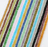 Crystal Glass Faceted Rondelle Spacer Loose Beads For Jewelry Finding Making DIY