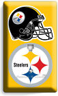 PITTSBURGH STEELERS NFL SUPER BOWL FOOTBALL LIGHT SWITCH OUTLET WALL PLATE COVER
