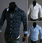 Quality Men's Slim Fit Skinny Long Sleeve Casual Dress Shirts Tops Blouse US LA