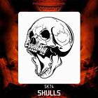 Airbrush stencil template DELTAARTS SKULL 74 -  3 SIZES AVAILABLE MID XL XXL