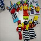 Lovely Baby Children Infant Animals Plush Foot Socks Wrist Watch Band Rattles Z