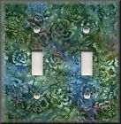 Switch Plates And Outlet Covers - Batik Floral - Purple Blue Green - Home Decor