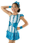 NEW 'Whirlawind' Blue White Tap Jazz Dance Skating Competition Costume Dress