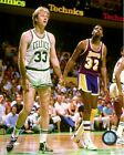 Larry Bird & Magic Johnson NBA Action Photo (Select Size)