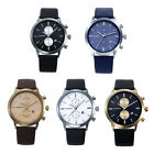1PC Fashion Men Casual Waterproof Date Leather Military Japan Watch Gift T75S