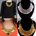New Fashion Silver Gold Coins Chunky Statement Bib Pendant Chain Choker Necklace