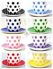 Dots & Spots Breakfast Cup & Saucer Large Cup Saucer Hand Decorated in the U.K.