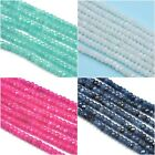 4mm Faceted Rondelle Agate Semi-precious Gemstone Spacer Beads Jewellery Making