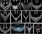 12 Style Crystal Necklace and Earring Set Wedding Bridal Engagemnt Jewelry Set