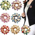 Flower Wedding Bridal Silver Rhinestone Crystal Gold Broach Brooch Pins Bouquet