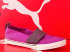 PUMA EL REY SLIPON NYLON-Womens Casual New Shoes-DewBerry/Gray-353554 04