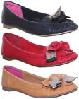10680 Womens Flat Sole Ballerina Loafers Shoes Round Toe Slip On Ladies Summer P