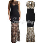 Sleeveless Seamless Mermaid Lace Long Club Party Cocktail Evening Dress SF ZZ