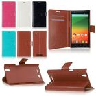 Hybrid PU Leather Card Pouch Flip Wallet Case Cover Stand Skin for ZTE ZMAX Z970