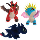 "NEW DREAMWORKS HOW TO TRAIN YOUR DRAGON LARGE 10"" SOFT PLUSH TOYS"