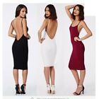 Women's Sexy Spaghetti Strap Backless Clubwear Cocktail Party Bodycon Dress - CB