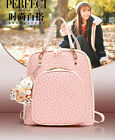 Women's Elegant Split Leather Bone printing Backpack