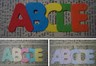 CARD x5 Alphabets x130 Letter Die Cuts BRIGHT/PASTEL/MARBLE Personalise Names