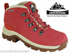 LADIES WALKING BOOTS  WATERPROOF HIKING BOOTS - size 3 4 5 6 7 8 RED