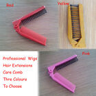 Women Folding Comb Hair Straightener For Wigs Care Brush Top 3 Colors