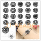 1pc Letter A-Z Alphabet Flower Bead Click Snap Button Fit Charms Bangle Bracelet