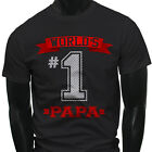 Dad Fathers Day  World's No.1 Papa Best Mens Black T-Shirt