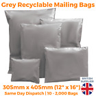 Strong Cheap Grey Mailing Bags Post Plastic Poly Recycled Self Seal ALL SIZES <br/> UK Manufacturer - 13 Sizes - All QTYs - Fast Delivery