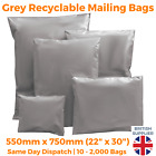 Strong Cheap Grey Mailing Bags Post Plastic Poly Recycled Self Seal ALL SIZES