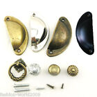 Kitchen Cupboard Door Cabinet Drawer Furniture Antique Shell Pull Handles Knobs