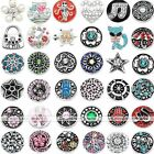 Snap On Charm Crystal Button Fit Punk Pop Buckle Ring Pendant Bracelet DIY Gift