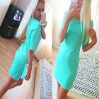 Chic Womens Fashion Celebrity Sexy Evening Short Sleeve Bodycon Mini Party Dress