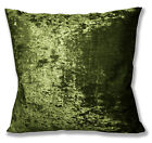 Mv12a Olive Lime Diamond Crushed Velvet Cushion Cover/Pillow Case Custom Size