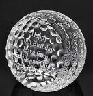 Personalised Optic Glass Detailed Golf Ball Paperweight with Gift Box, Engraved