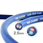 Van Damme Blue Series 2(core) x 2.5mm Speaker Cable - OFC, AV Amp, High Quality