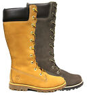Timberland Asphalt Trail Classic Youth Junior Girls Tall Boots Leather Zip Lace