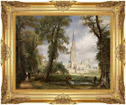 Framed Art Salisbury Cathedral from the Bishop's Garden by John Constable Repro