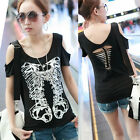 SEXY TREND GIRL SKULL COLOR STYLE 9584 STYLE SLEEVES SHIRT TOP