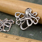 10pcs sterling silver Plated Octopus Earring Charm Pendant Connector a254 PICK