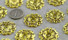 12pcs Solid Brass Filigree Base Setting Wraps 23mm bp02 PICK