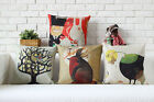 Colorful Fairy Tales Animal Pillow Case Sofa Decor Cushion Cover Square Linen
