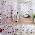 Brilliant Peony Tulle Window Screens Door Balcony Curtain Sheer Cover