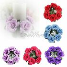 New Floral Candle Ring Wedding Centerpieces Silk Rose Flower Party Banquet Decor