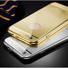 "For iPhone 6 4.7 & 6 Plus 5.5"" Ultra-thin Aluminum Metal Mirror Fited Case Cover"