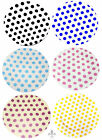 "Spots Plates 8"" Set of 4 Bone China Side Plates Black Blue Pink Purple Yellow"