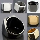 Unisex Flat Top Punk Gothic Rock Street Style Stainless Steel Finger Ring Gift