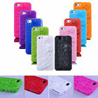 3D Peony Rose Sculpture Pattern Soft Silicone Case Cover Skin For iPhone 5 5S