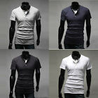 2015 Mens Casual Slim Fit Short Sleeve T-Shirts Fashion Summer Polo Tops Tee