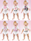 Just Add a Kid Baby Girls Infants 6 Months Bodysuit Babygrow 100% Cotton